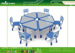 Mobiliário de jardim de infância mesas e cadeiras para atividades divertidas