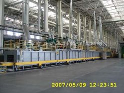 Revêtement en poudre four (four industriel)