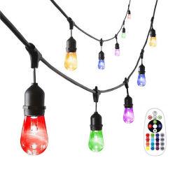 مصابيح LED RGB الخارجية المقاومة للماء لإضاءة جهاز التحكم عن بعد الخاص بديكور عيد الميلاد التحكم