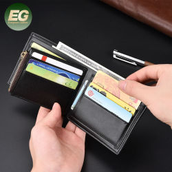 W6094 포 가죽 남성용 슬림 지갑과 Money Clip Luxury 남성용 신용카드인 Bifold RFID Blocking Wallet을 이용하세요