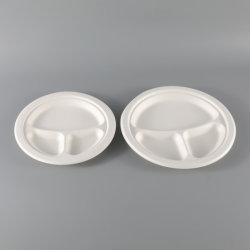 ペーパー党皿の使い捨て可能なベーキング食糧版のあたりで印刷される単一カラー