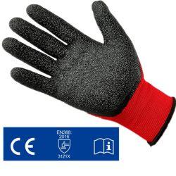13Comparador látex revestido enrugado luvas de trabalho de segurança para uso doméstico de jardinagem