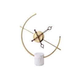Horloge moderne minimaliste décoration créative salle de séjour Décoration marbre époque Horloge lumière de luxe Home Bureau mode horloge de table