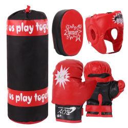As crianças de couro PU luvas de boxe saco de boxe alvo mão Set Home Kids Descompressão Exercício Sandbag Fitness