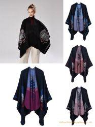 Senhoras Fashion Winter Ruana sobre Médias Poncho/Ruana/Warp/Cabo