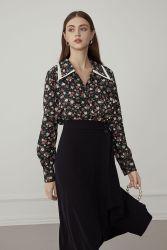 Der Form-Entwurfs-neuen klassischen Frauen High Waist A - Zeile Fußleiste Kleid-Beruf-Büro-Geschäfts-der eleganten Sommer-Dame