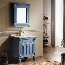 Europa Style American simples Estilo Rural cascos de madeira sólida armário de banheiro