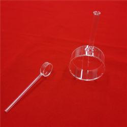 Saída de longa cilíndricos de vidro de quartzo cubeta de células