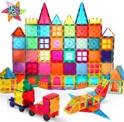 120pcs Blocs de construction magnétique pour les enfants des blocs de construction en briques magnétique