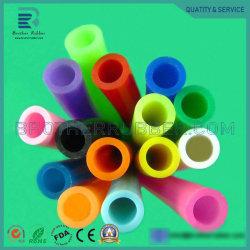Médico original de fábrica resistente al calor de grado alimentario tamaños personalizados de color del tubo de vacío de caucho del tubo de silicona flexible