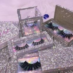 Оптом Custom Eyelash упаковочный ящик драматический 5D 25 мм прах натуральный Норки Eyelashes Поставщик мек Lashes3d оптовый поставщик