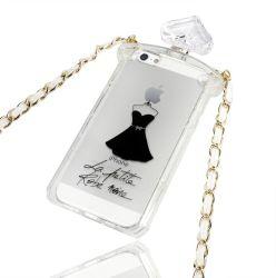 2014 новый дизайн флакона духов телефон с цепи для iPhone 5g