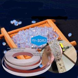 Ninguna cadena blanco automático Manual cantos de PVC de la máquina de cinta adhesiva de fusión en caliente