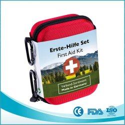 مجموعة الإسعافات الأولية مقاومة للماء من خلات فينيل الإيثيلين (EVA) شعار خاص مركبة السفر أولاً طقم حقيبة الإسعافات الأولية طقم النجاة للمصنع صندوق الإسعافات الأولية في حالات الطوارئ طقم الإسعافات الأولية في المصنع CE