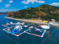 زورق مطاطي حديقة مائية العائمة الجزيرة المائية توبوجان القابل للنفخ حديقة المائية المائية Park with TUV Certificate
