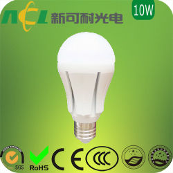 10W 고출력 LED 화이트 전구, CW용 870lm/WW용 820lm, 100 ~ 240V AC 입력, CE/RoHS 마크