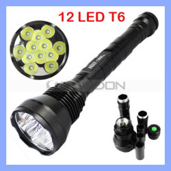 13800 Люмен 12X КРИ Xm-L XML T6 12t6 12 T6 светодиодный свет фонарика горелки лампы