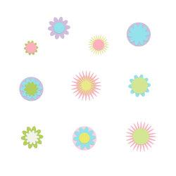 Mini Paper Flower - diverse tas voor het maken van kaarten (FS04-B)