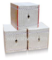 セラミックファイバModulsかベニヤのブロックの高性能の買物の屋根の絶縁体の製品