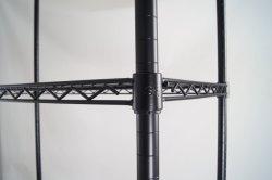 CE ISO SGS-zugelassener, robuster schwarzer Draht, 4 Tier Display-Rack