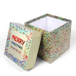 Firstsail Merry Christmas Merchandise Cookie Verpackung Glänzende Gedruckte Dekorationen Parfüm Wachs Kerze Seifendeckel und Basis Geschenkpapier Box