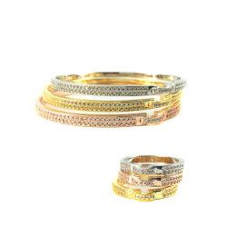 Design de travamento de falsos Zircon bracelete de fantasia Bangles Gold Silver Rose Gold