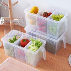 Organizador de cozinha frigorífico congelador caixas de plástico empilháveis de armazenagem de contêineres reutilizáveis para manter para produzir frutos de Produtos Hortícolas Frescos