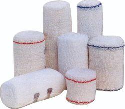 Atadura de crepe de algodão sem látex pensos bandagem elástica