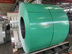 (Q215/Q235) طلاء بلفة معدنية Gi/GL مغلفن بألومنيوم طلاء طلاء بقوالب الزنك PPGI/PPGL ورقة سقف ملونة مطلية مسبقًا بملمع من الفولاذ المغلفن مع ASTM/ISO/SGS/AISI/SUS