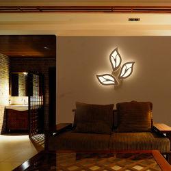 Camera per bambini LED Creative lampada a foglia soggiorno Camera da letto Household Lampada da parete
