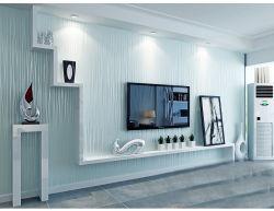 Новый современный дизайн дома оптовые украшения бумаги для гостиной ресторан спальне детей панели обоев по стенам голубой полосой