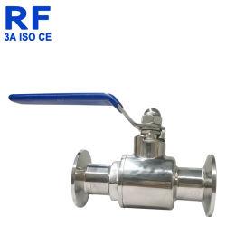 Acero inoxidable de RF de la abrazadera sanitaria directa Manual de la válvula de bola