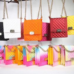 2020 El Diseñador de mayorista de carteras de marca de señoras mujeres Bolso Réplica de la eslinga de teléfono móvil a granel Maletín messenger barata Dama Mini arco iris de colores dulces Jelly bolsa