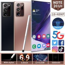 Teléfono móvil Nota 20 Ultra Teléfono 6.9 pulgadas transfronteriza Teléfono fabricantes de teléfonos inteligentes de venta directa de teléfono celular