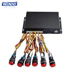 Низкая цена RS232 дисплея управления 6 светодиод кнопки Media Player