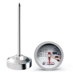 Termometro a bottoni per bistecca, termometro a carne al pollame, termometro a quadrante in acciaio inox riutilizzabile, utensili per barbecue a griglia, termometro per bistecca da forno