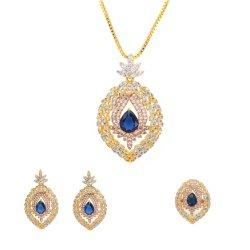 色鮮やかな宝石用原石の女性の結婚式 Bride 党ネックレスの卸し売り
