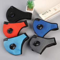 Radfahren Gesichtsmaske mit Filtern PM 2,5 Anti-Verschmutzung Radfahren Maske Fahrradmaulkappen Mit Aktivkohle-Beatmungsventil