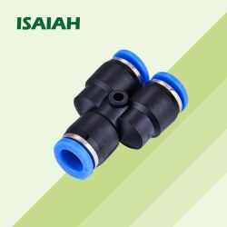Ipy 미터법 크기 인치 크기 나사산 Y 방향 빠른 커넥터 공압 튜브 플라스틱 피팅