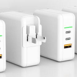 Banco de potência QC PPS portátil Telefones Apple 65W USB C Carregador GaN Pd 3 Carregador GaN móveis de design da porta Carregador de parede para Computador Portátil