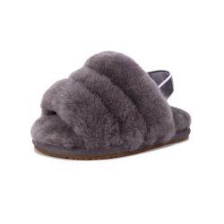 실내 겨울 단화가 또는 실내 단화 또는 뜨개질을 한 단화 또는 Knitwearknitting 또는 직물 아기 아이를 위한 실제적인 모직 모피 슬리퍼 양가죽 슬라이더에 의하여 집으로 돌아온다