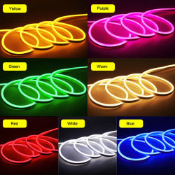 Indicatore luminoso al neon della corda del coperchio del silicone di illuminazione laterale dell'indicatore luminoso 6*12mm 12V 24V del tubo al neon di abitudine LED della fabbrica