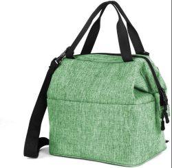 녹색 런치 쿨링 백 내구성 있는 나일론 런치 백 절연 점심 성인 남성용 Box Soft Cooler Tote
