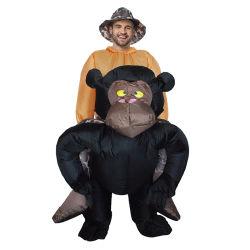 Смешные надувные Кинг Конг костюмы животных платье удар по итогам поездки в косплей Хэллоуин Группа украшения для взрослых