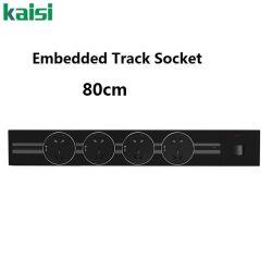 مقبس مسار الجدار الألومنيوم المدمج Orbital الاتحاد الأوروبي الطاقة المعيارية القابلة للنقل لوحة مأخذ كهربائي لسطح المكتب بنظام القضبان مع USB