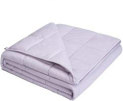 O algodão e o cordão de vidro cinzento claro Manta ponderada de 5 lbs colcha de algodão Manta Ponderada de malha