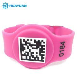 Kundenspezifisches Firmenzeichen Drucken ICODE SLI /ICODE SLIX L programmierbare wasserdichte preiswerte UHFsilikonNFC RFID Wristbands des Preis-Swimmingpool BADEKURORT-125kHz 13.56MHz