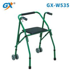 シートおよび車輪を持つアルミニウムFoldable歩行者