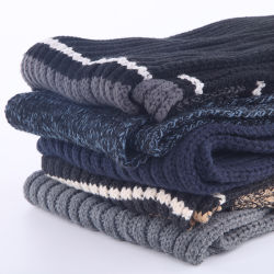 人のためのジャカード冬の方法スカーフ