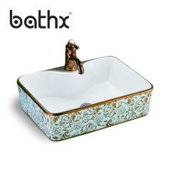 Antigüedades europeas de la Mesa de cerámica Retangular LAVABO lavabo